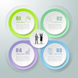 Abstract 3d infographic 4 options Royalty Free Stock Photo