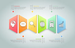 Abstract 3d infographic 6 options Stock Image