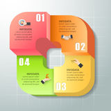 Abstract 3d infographic 4 options. Business concept infographic template can be used for workflow layout, diagram, number options Stock Images