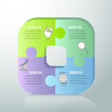 Abstract 3d infographic 4 options. Business concept infographic template can be used for workflow layout, diagram, number options vector illustration