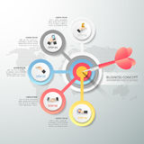 Abstract 3d infographic 5 options Royalty Free Stock Photos