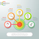 Abstract 3d infographic 5 options. Business concept infographic template can be used for workflow layout, diagram, number options Royalty Free Illustration