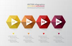 Abstract 3D infographic template. Stock Images
