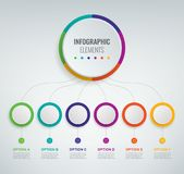 Abstract 3D infographic template with 6 options. Business presentation concept. Vector. Illustration stock illustration