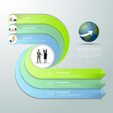 Abstract 3d infographic template 3 steps, Stock Images