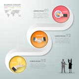 Abstract 3d infographic template 3 steps, for business concept. Vector illustration Stock Photos