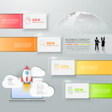 Abstract 3d infographic template 4 steps, Royalty Free Stock Photos