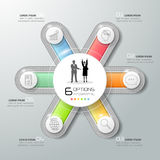 Abstract 3d infographic template 6 steps, Stock Photo