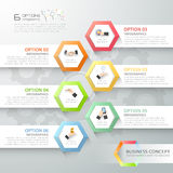 Abstract 3d infographic template 6 steps, Royalty Free Stock Images
