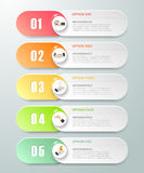 Abstract 3d infographic template 5 steps, Stock Image