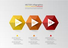 Abstract 3D infographic template. Royalty Free Stock Image