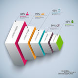 Abstract 3d infographic trapdiagram royalty-vrije illustratie