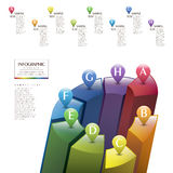 Abstract 3d infographics. Colorful abstract 3d infographic elements stock illustration