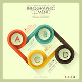 Abstract 3d infographics. Flat design vector abstract 3d infographic elements royalty free illustration