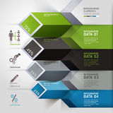 Abstract 3d infographics options. Royalty Free Stock Image