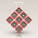 Abstract 3d interface infographics Royalty Free Stock Photography