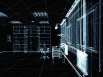 Abstract 3d interior Stock Photos