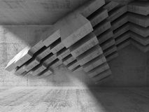 Abstract 3d interior design. Concrete installation Stock Images