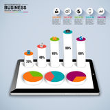 Abstract 3D isometric business Infographic Stock Photography