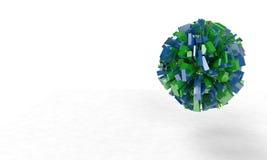 Abstract 3d kubussen en gebied, Royalty-vrije Stock Afbeeldingen