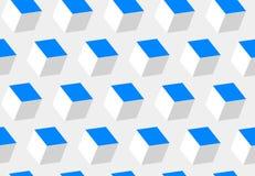 Abstract 3d kubussen naadloos patroon Het voorwerp hangt in ruimte Ontruim en structureer en leid bouw royalty-vrije illustratie