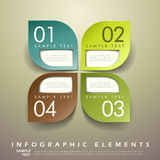 Abstract 3d leaf tag infographics Stock Photo