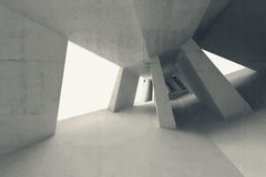 Abstract 3d leeg binnenland met gebogen perspectief Royalty-vrije Stock Foto