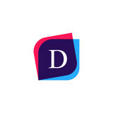 Abstract D letter logo company icon. Creative vector emblem bran Royalty Free Stock Images