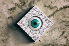 Abstract 3d menselijk oog Stock Afbeelding