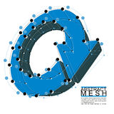 Abstract 3d mesh vector background, clear eps 8. Royalty Free Stock Photography