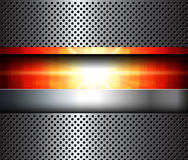 Abstract 3D metallic background Stock Images