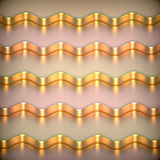 Abstract 3d metallic background. Abstract 3d metallic wavy background stock illustration