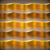 Abstract 3d metallic background. Abstract 3d metallic wavy background. 3d render Stock Photos
