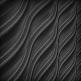 Abstract 3d metallic wavy background. Abstract 3d metallic wavy black background Royalty Free Stock Photos