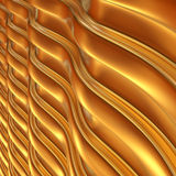 Abstract 3d metallic wavy background. 3d render Stock Photography