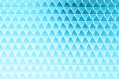 Abstract background of polygonal shape. Abstract 3D minimalistic geometrical background of blue triangles stock illustration
