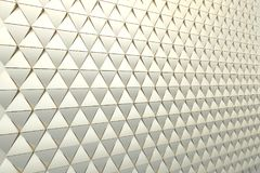 Abstract background of polygonal shape. Abstract 3D minimalistic geometrical background of golden triangles Royalty Free Stock Photo