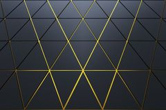 Abstract background of polygonal shape. Abstract 3D minimalistic geometrical background of triangles stock illustration