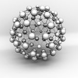 Abstract 3d Molecular Structure Object Royalty Free Stock Photos