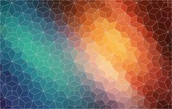 Abstract 2D mosaic colorful background Stock Image