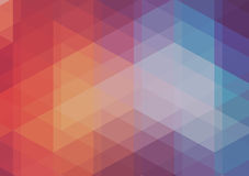 Abstract 2D mosaic triangle background Stock Photos