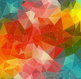 Abstract 2D mosaic triangle background Royalty Free Stock Images