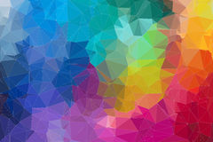 Abstract 2D mosaic triangle background Stock Photo