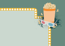3D movie background Stock Photo