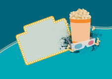 3D movie background Royalty Free Stock Photo