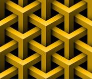 Abstract 3D Naadloos Patroon Royalty-vrije Stock Afbeeldingen