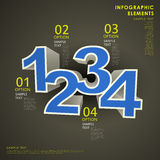 Abstract 3d number infographics. Realistic vector abstract 3d number infographic elements stock illustration