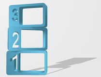Abstract 3D Numbered Frames, Vector Illustration. Abstract 3D Numbered Frames. Can be used as  Infographic Element, Background Royalty Free Stock Images