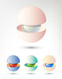 Abstract 3D Object Similar To a Pearl In Shell. Vector Image Could Be Used As Logo. Abstract 3D Object Similar To a Pearl In Shell. Vector Image Stock Illustration
