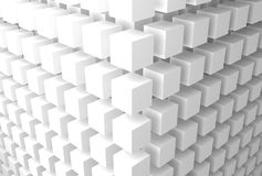 Abstract 3d objects. 3d rendered set of cubes royalty free illustration